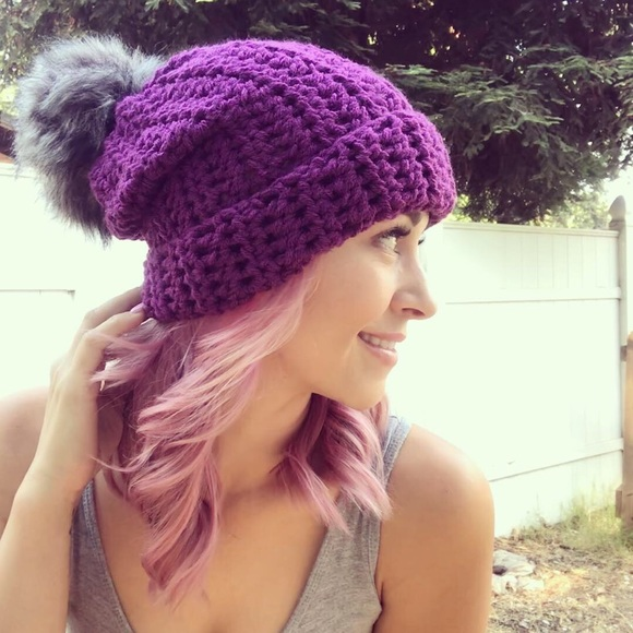 f2fc2453f3c Purple Slouchy Beanie
